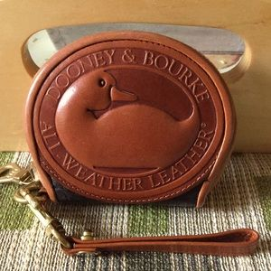 Dooney & Bourke  BLACK AWL  Big Duck  Coin Purse